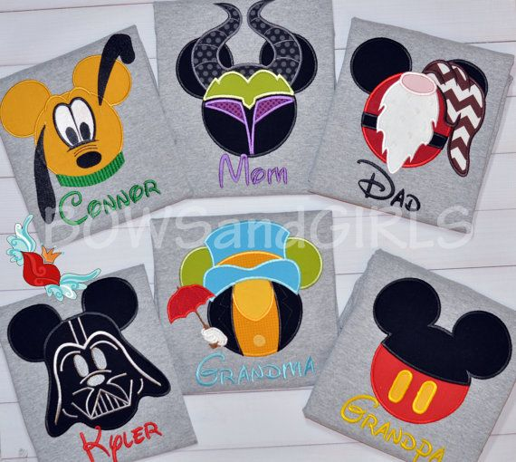 Family  Cruise  Parks  Disney Mouse Ears  Applique by bowsandgirls