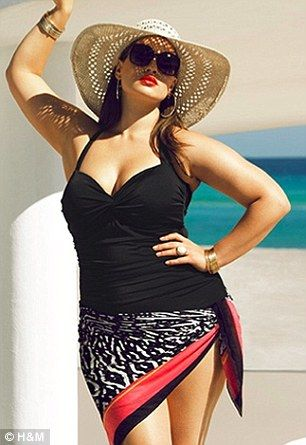tara lynn for H&M. its nice to see a curvy woman represent one of my favorite clothing stores.