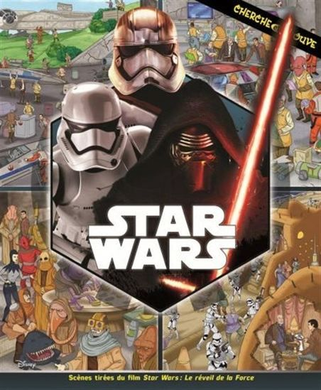 Repérez des personnages et des objets dans huit scènes remplies d'action tirées de l'univers de la série Disney - Star Wars.