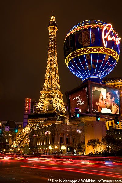 Paris Hotel and Casino in Vegas--Eiffel tower is best view of Bellagio fountains--especially at night!