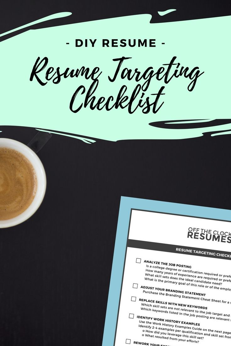 Resume Branding Statement Examples Resume Targeting Checklist  Professional Resume Writers Resume .
