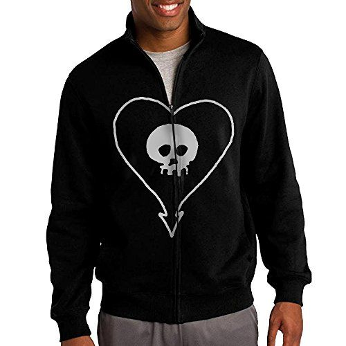 ILKU Mens Alkaline Trio Band Logo ZipUp Sweatshirt Jacket Black Size XXL ** Continue to the product at the image link.(This is an Amazon affiliate link and I receive a commission for the sales)