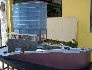 CR/ Estudio de Arquitectura.: Maqueta de Edificio de Oficinas y Plaza Comercial