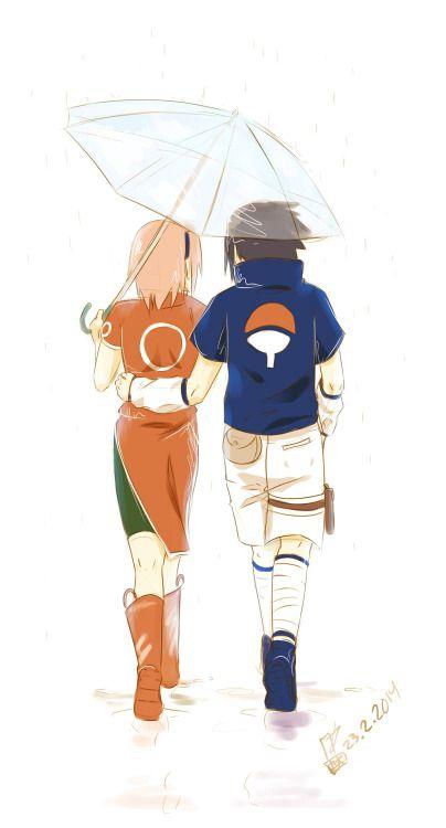 <3 Sakura & Sasuke - by arounagein-art, tumblr