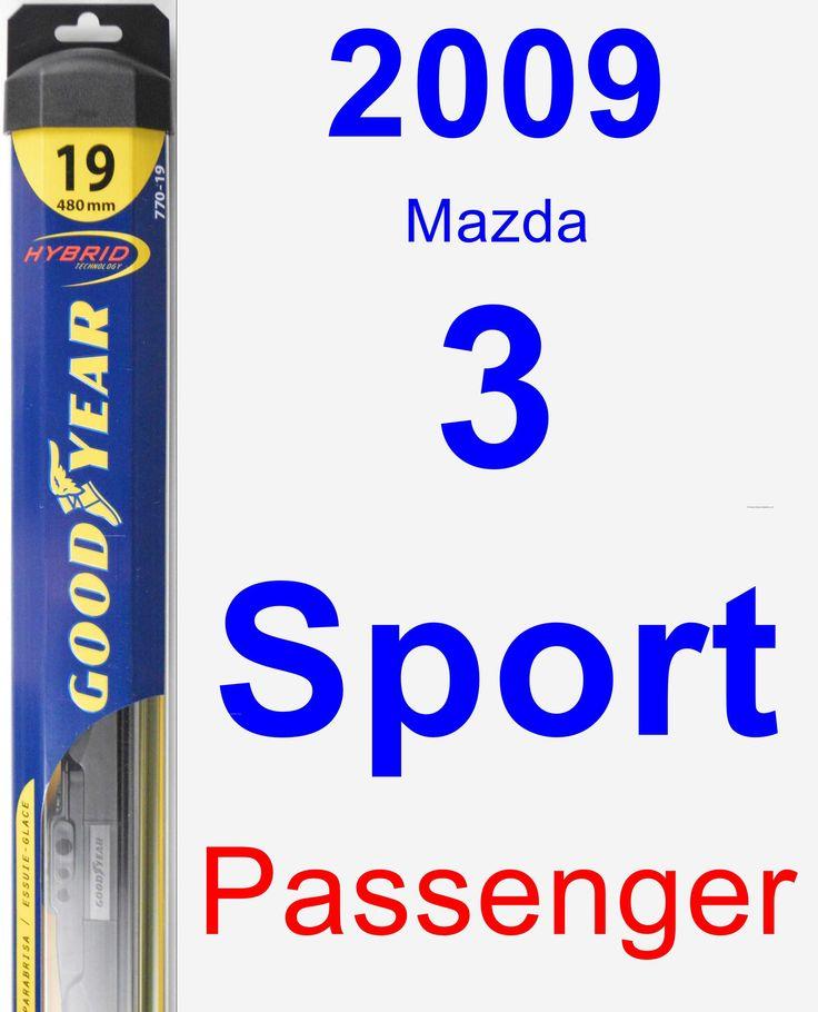 Passenger Wiper Blade for 2009 Mazda 3 Sport - Hybrid