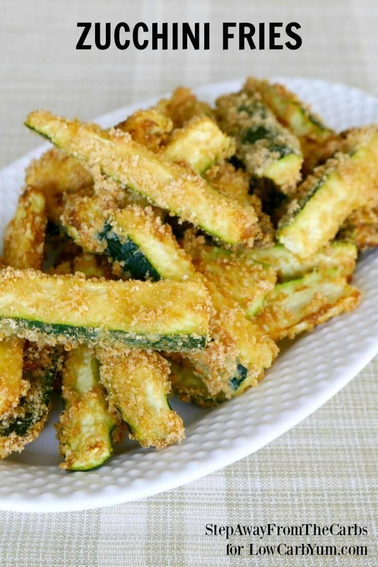 Low carb zucchini fries cover photo