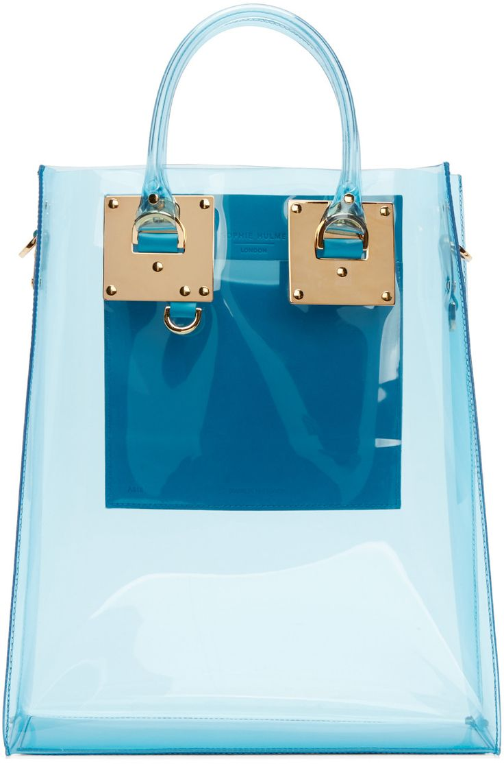 Sophie Hulme - Blue Vinyl Albion Tote, bag, сумки модные брендовые, bags lovers, http://bags-lovers.livejournal