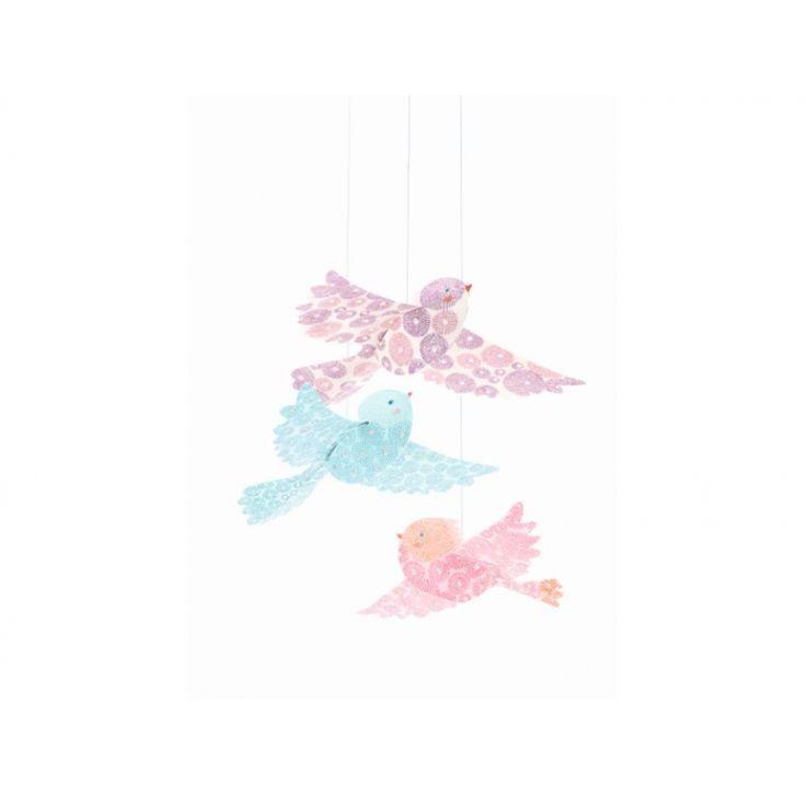 Djeco Glitter papieren vogels | IMPS&ELFS