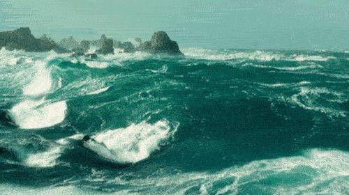 sea ocean waves stormy rough seas