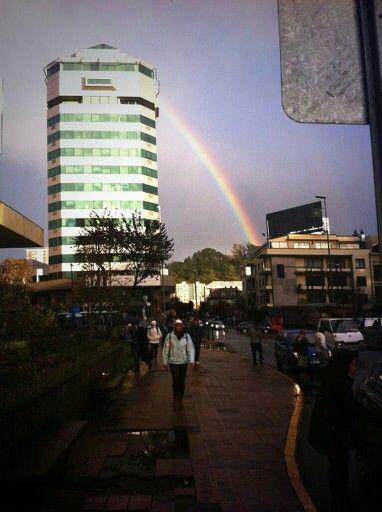 Hermosa postal de Concepción después de la lluvia.