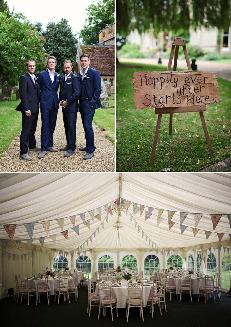 A sophisticated wedding in Buckinghamshire. Mixed pastel bunting - www.devonvintagechina.co.uk