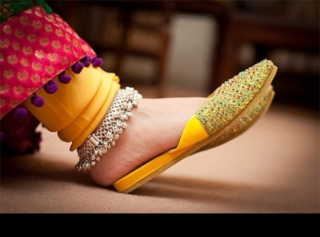 khussa (embroidered traditional leather shoes) Pakistan