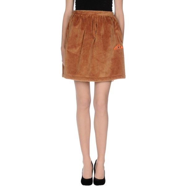 Adidas Originals X Opening Ceremony Knee Length Skirt (£36) ❤ liked on Polyvore featuring skirts, camel, knee length skirts, pocket skirt, knee high skirts, zipper skirt and camel skirt