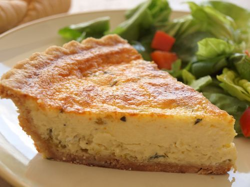 """Leek And Parmesan Quiche....She writes...""""This recipe was inspired by my semester abroad in France, when everyday for lunch, I would walk to the pastry shop near my university and treat myself to an individual quiche fromage…a delicious little habit that quickly cost me all my skinny jeans."""""""