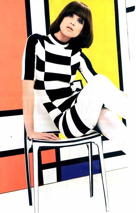 Fines de los 60s, moda op art