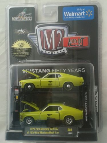 M2-machines-auto-lift-2-pack-die-cast-model-car-ford-mustange-50th-aniv-6000-ltd