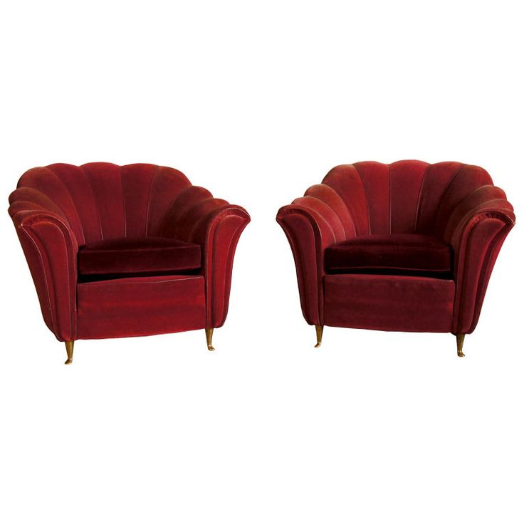 Pair of Art Deco Italian Club Chairs