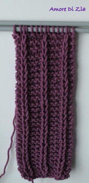Scaldacollo o sciarpa a maglia: tutorial fotografico del punto. Amore Di Zìa blog