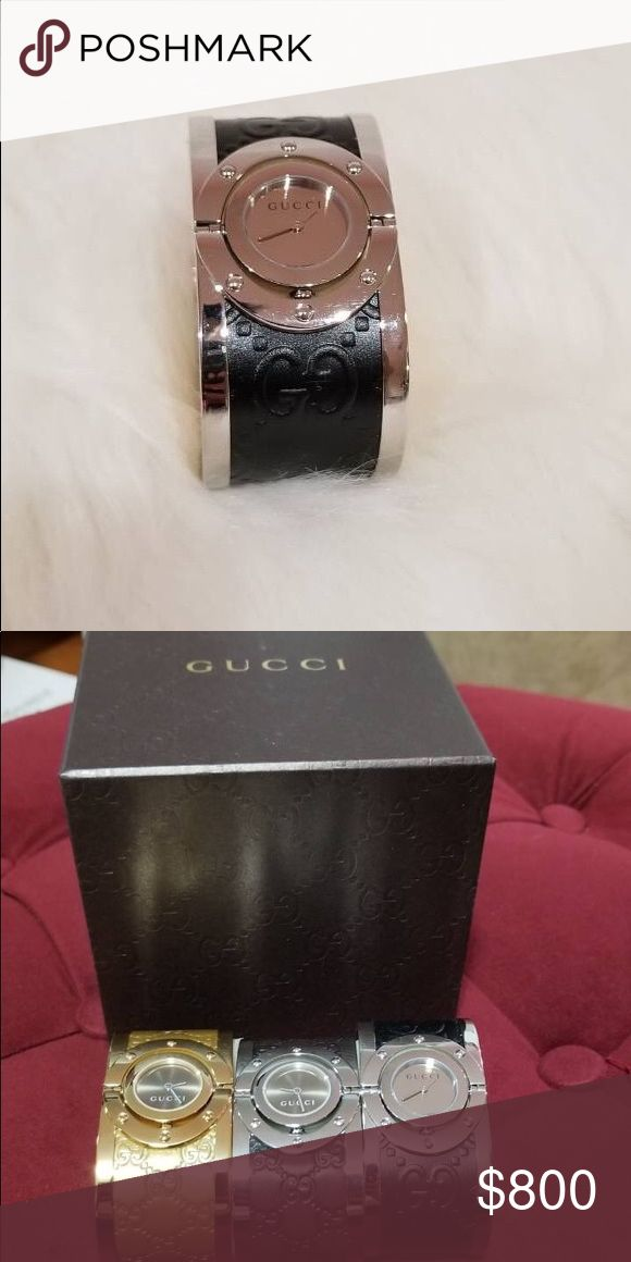 Brand New Authentic Gucci Ladies Watch Brand New Authentic Gucci Ladies Watch. Comes with original box & tag.   FYI. We only sell 100% Authentic Luxury Designer items.  We do not accept trade. We accept reasonable offer.   Happy Shopping!!! Gucci Accessories