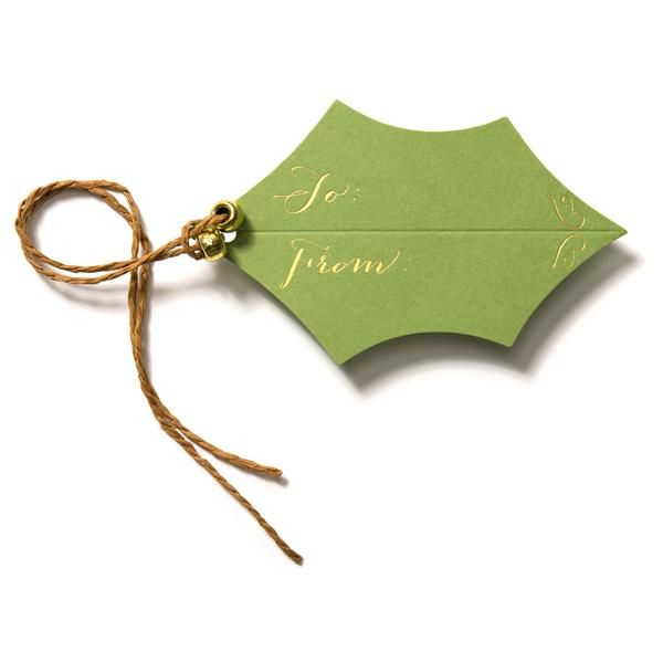 Holly Gift Tags in Green | Karen Adams Designs