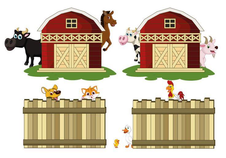 FREE - Preschool Printables.Животные на ферме Игры на развитие интуиции. Раннее развитие. Материалы для печати. Шичида