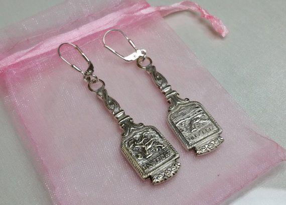Ohrhänger Ohrringe aus Silberbesteck 1 Paar BO136 von Schmuckbaron