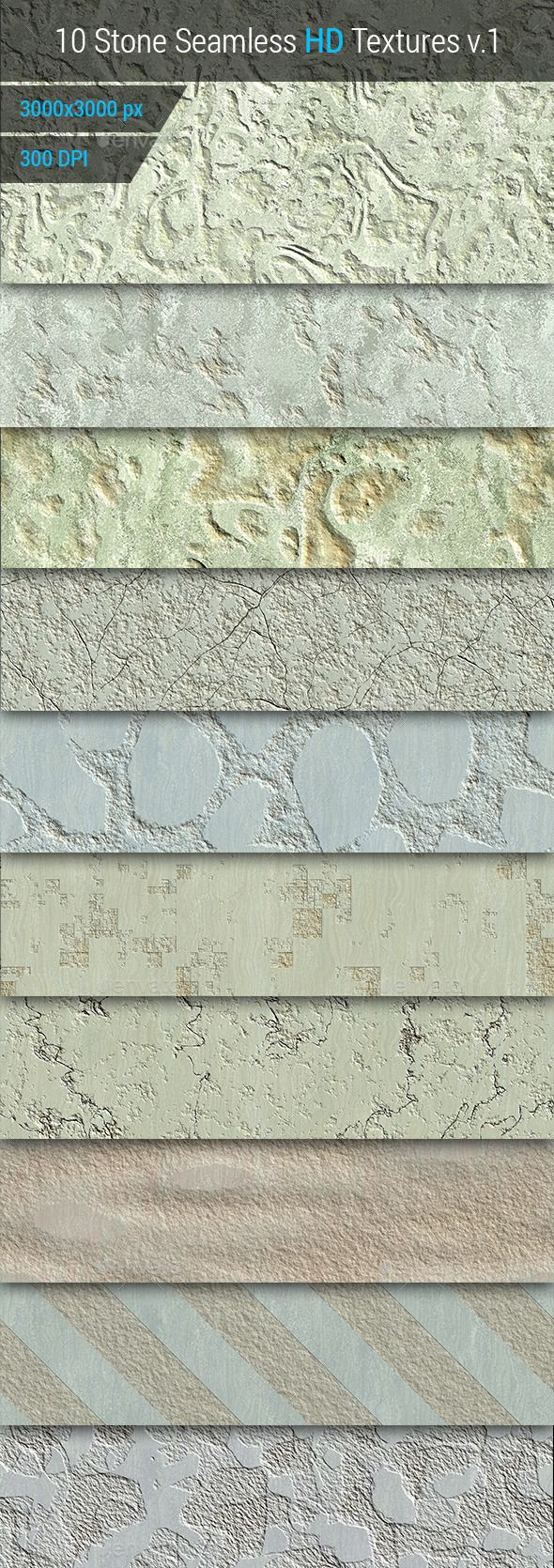 Stone Seamless and Tileable HD Textures Set
