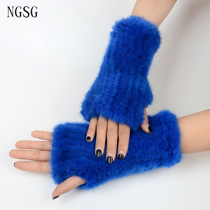 2016 Hot Winter Half Gloves Women's Love Soft Comfortable Genuine Import Mink Made Support Customized Stylish Style EA4050-15