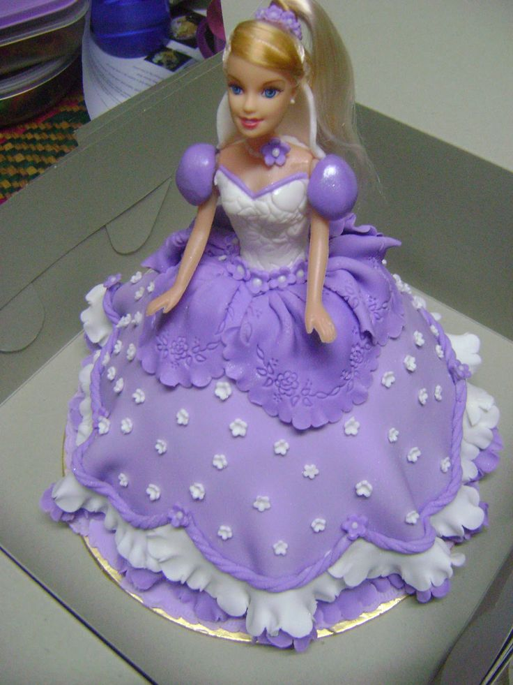Best Doll Dress Cakes Images On Pinterest Doll Cakes Barbie - Birthday cake doll princess
