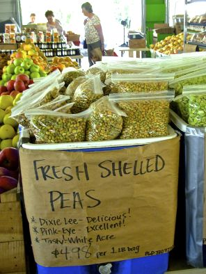 october 3, 2012    End of summer means that field peas are in season.  Sure, you could purchase frozen field peas, but nothing compares to the earthy taste and toothsome bite of those that are fres…