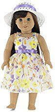 This is a SUPER simple, easy American Girl Doll dress - perfect for your daughter who is just learning to sew!