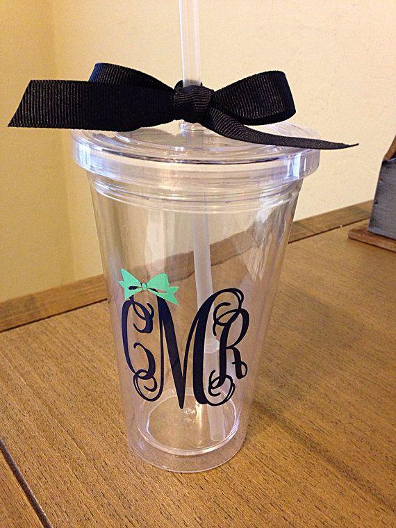 best 25  monogram cups ideas on pinterest