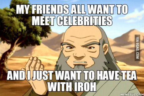 Avatar !!!! I'd much rather have tea with Iroh than hang with any major celebrities