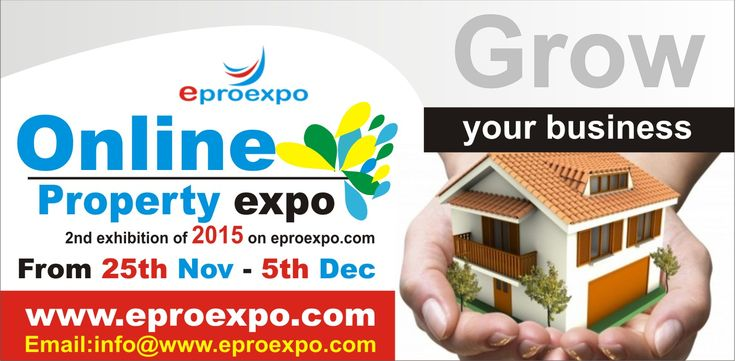 Online Property Expo is going to  start from 25th Nov to 5th Dec on http://www.eproexpo.com/ Join the expo and grow your business.