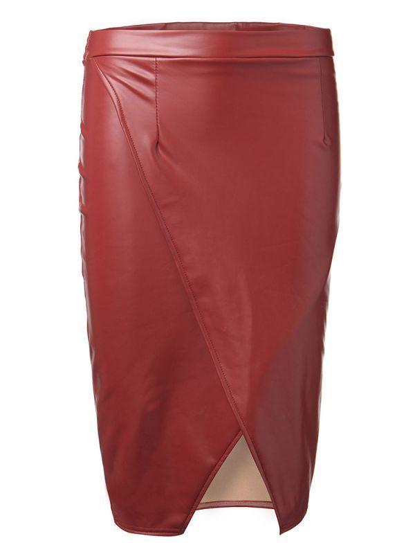 Skirts and sneakers sexy work pu high waist slit women pencil skirt with fleece #aimee #g #skirt #skirts #and #tights #skirts #and #wind #skirts #synonym