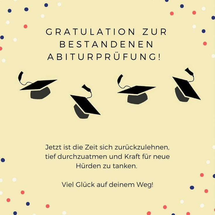 Abitur zum bestandenen Glückwünsche zum