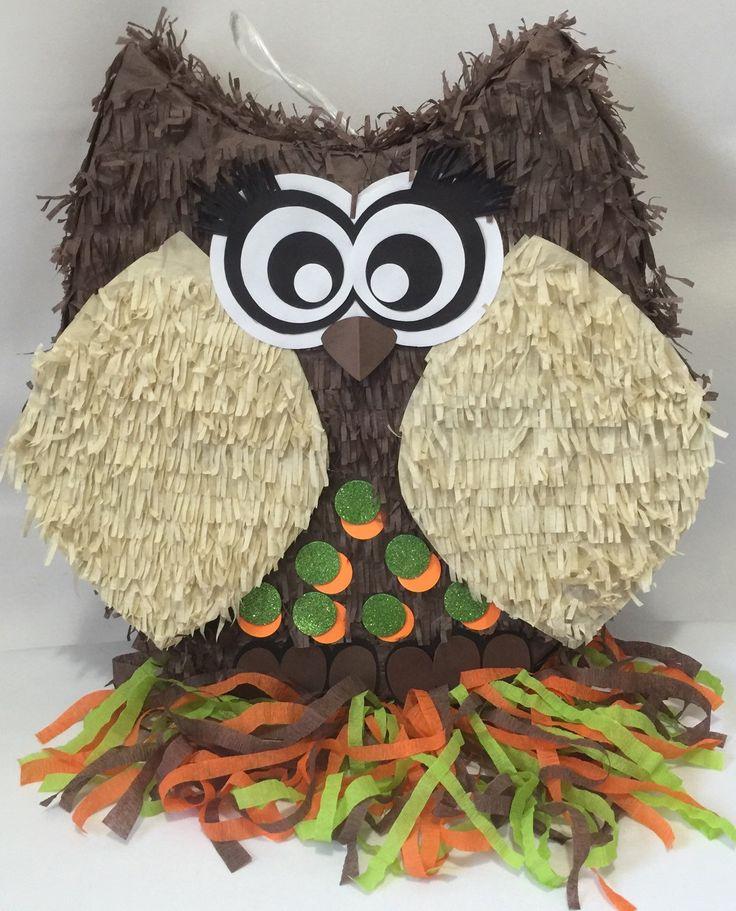 Piñata de buho marrón grande ideal para cualquier edad o