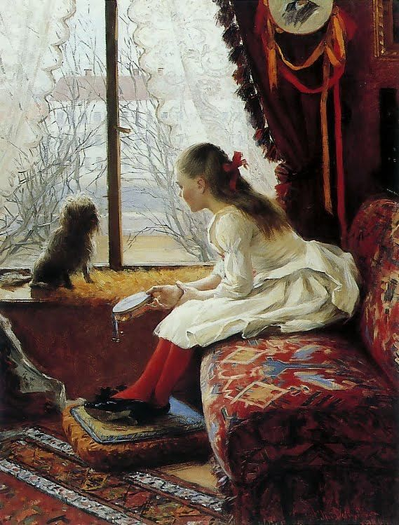 Elin Danielson-Gambogi, (Finnish, 1865-1919) - Portrait of Walborg Jakobsson