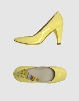 closed toe slip ons ++ paul by paul smith: Yellow Pumps, Low Key