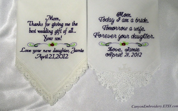 Wedding Gifts For Parents Handkerchief : Wedding Handkerchiefs, Wedding Gifts, Parents, Wedding Gift ...