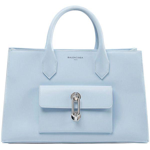 Balenciaga AJ XS Tote Bag ($2,565) ❤ liked on Polyvore featuring bags, handbags, tote bags, blue, handbag purse, tote hand bags, purse tote, balenciaga tote and blue purse