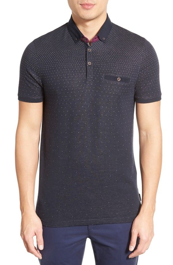 Ted Baker London 'Regstep' Modern Fit Ombré Dot Polo | Nordstrom