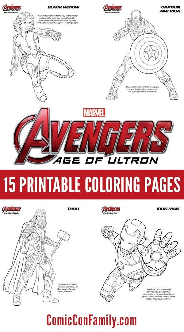 Marvel Superhero Coloring Pages Free Kids Printables Marvel S The Avengers Age Of Ultron Avengers Coloring Pages Avengers Coloring Superhero Coloring Pages