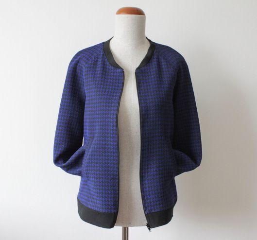 """bluza bejsbolówka, Burda """"Szycie krok po kroku"""" W/L 2014, szycie na maszynie, szycie ubrań, wykroje krawieckie, wykroje Burda, blog o szyciu, blog krawiecki, ubrania handmade"""
