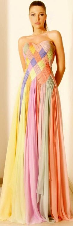 Rami Kadi 2012 Couture Collection | ❤ Pastel Brights ❤ | Pinterest)