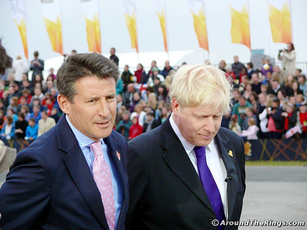 Seb Coe, Boris Johnson. Add Around The Rings on www.Twitter.com/AroundTheRings & www.Facebook.com/AroundTheRings for the latest info on the Olympics.
