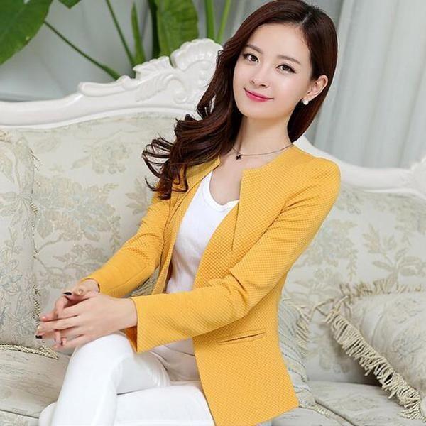 aa72ec97d4b Long Sleeve One Button Ladies Blazers! blazers for women
