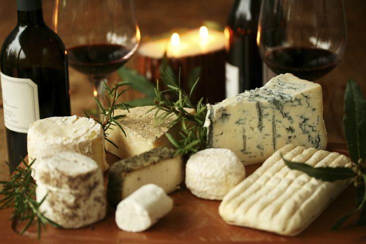 Wine and cheese pairing.