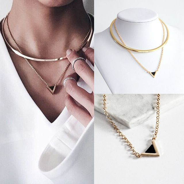 Gold Triangle Necklace R57.10