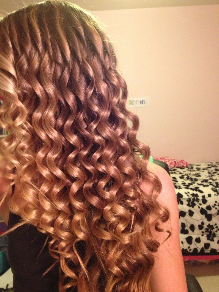 I used my wand curler to get wavy spirals! Works so great!
